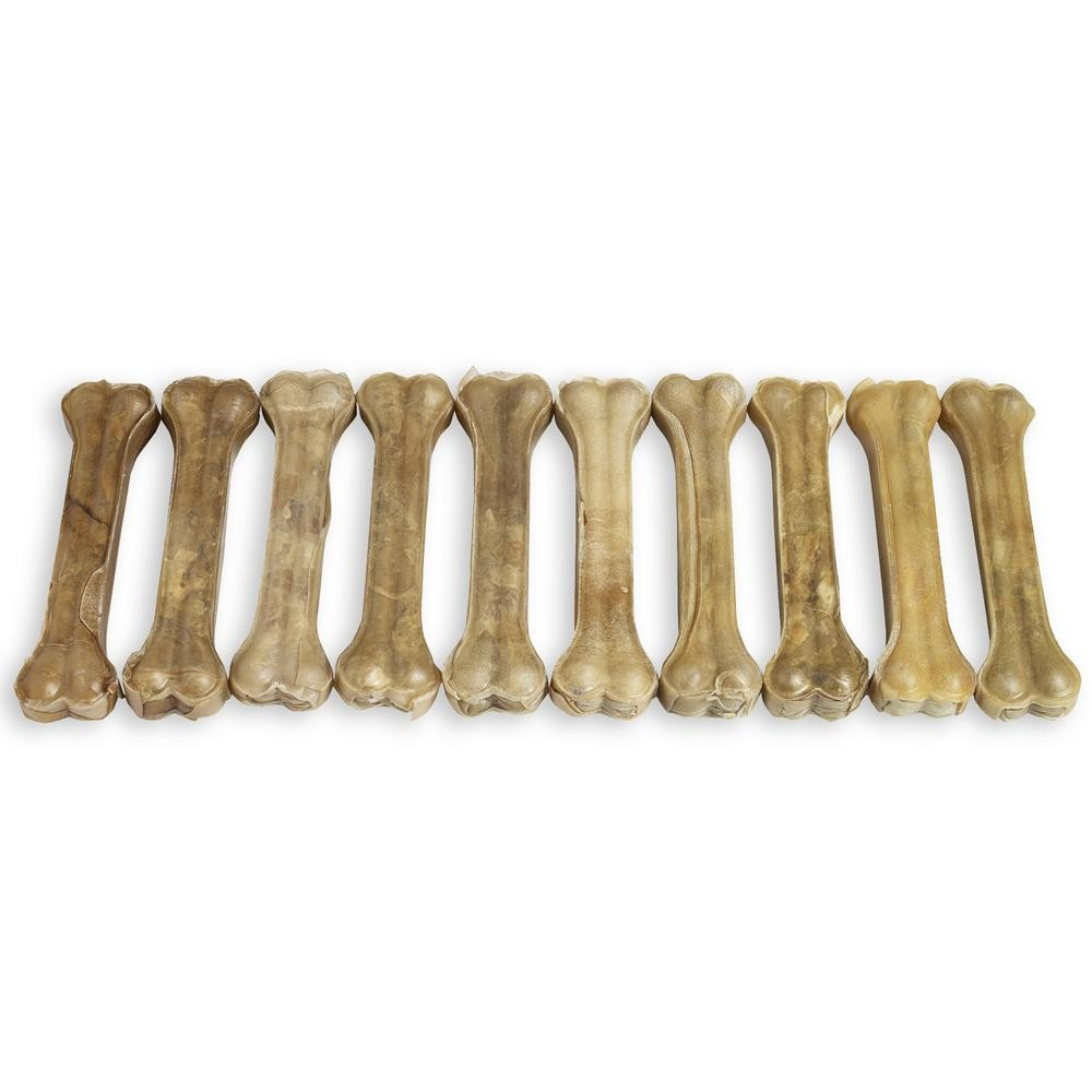 "Raw Hide Pressed Bone Natural 10-10½"" 280-290 gr"