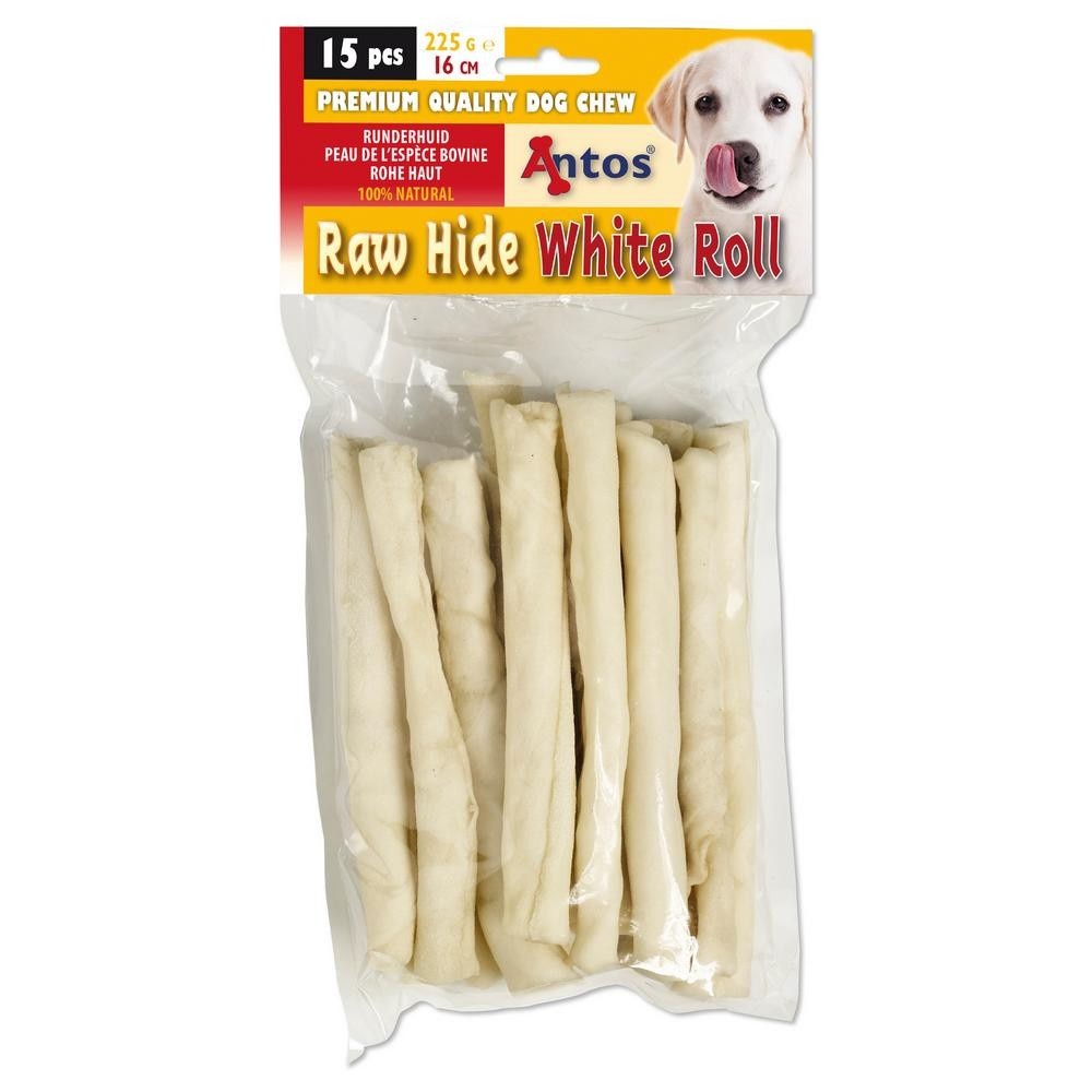 Raw Hide White Roll 15 stuks