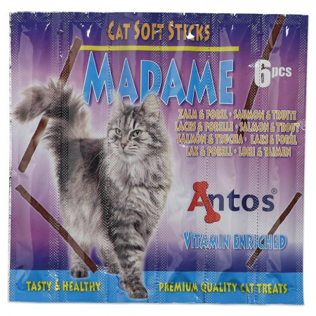 Cat Soft Sticks Madame Saumon&Truite 6 pces