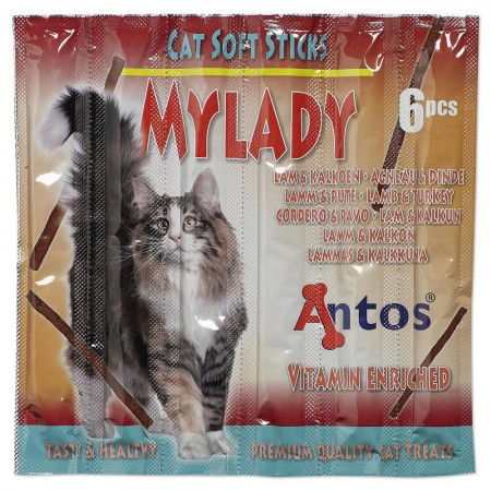 Cat Soft Sticks Mylady Cordero&Pavo 6 piezas