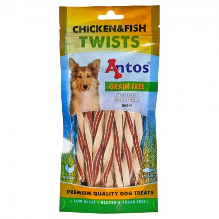 Chicken&Fish Twists 100 gr