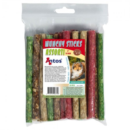 "Munchy Sticks 5"" 10 mm Variado 25 piezas"