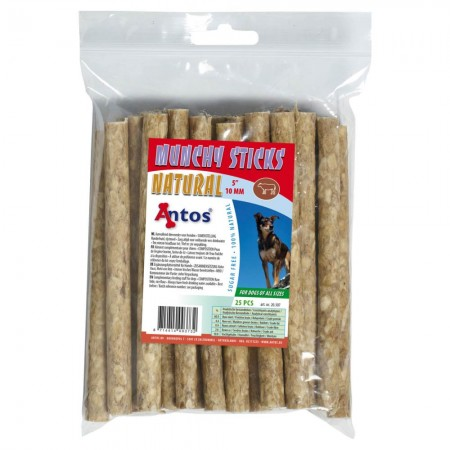 "Munchy Sticks 5"" 10 mm Natural 25 piezas"