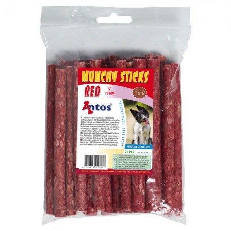 "Munchy Sticks 5"" 10 mm Red 25 pcs"