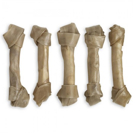 "Raw Hide Knotted Bone Natural 10"" 180-190 gr"