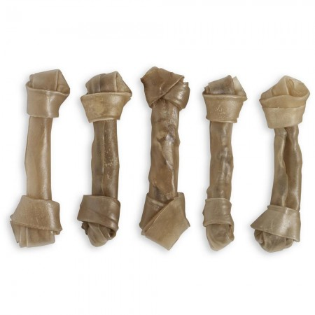 """Raw Hide Knotted Bone 7½"""" 70-80 gr"""