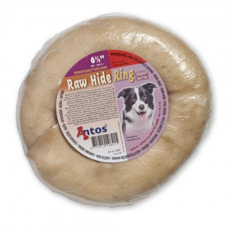 Raw Hide Mantequilla de Cacahuete Ring 6½""