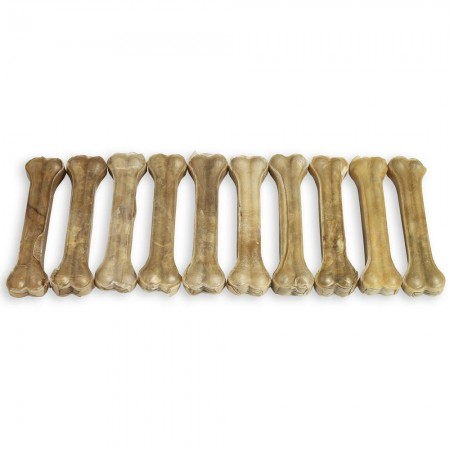 "Raw Hide Pressed Bone 10-10½"" Natural 280-290 gr"