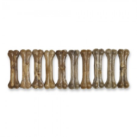 "Raw Hide Pressed Bone 6½"" Natural 100-105 gr"