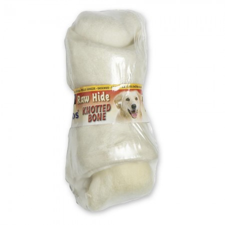 Raw Hide White Knotted Bone 6/7''
