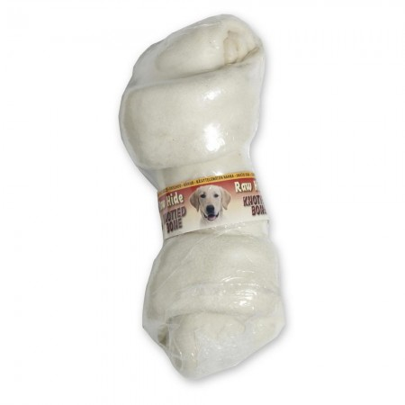 Raw Hide White Knotted Bone 8/9''