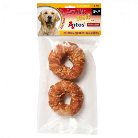 "Raw Hide White + Chicken Donut 3½"" 2 pcs"