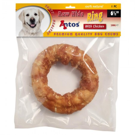 "Raw Hide White + Chicken Ring 6½"" 1 pc"
