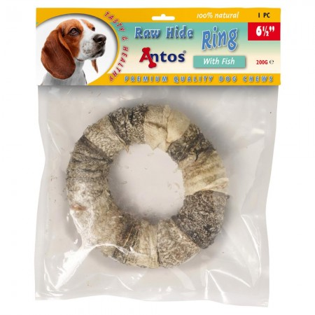 "Raw Hide White + Fish Ring 6½"" 1 pc"